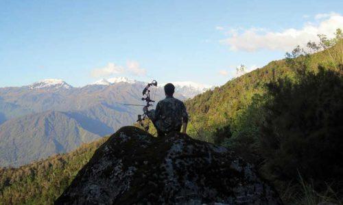 Caza con arco y al límite en Nueva Zelanda