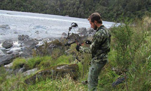 Con arco y al límite en Nueva Zelanda