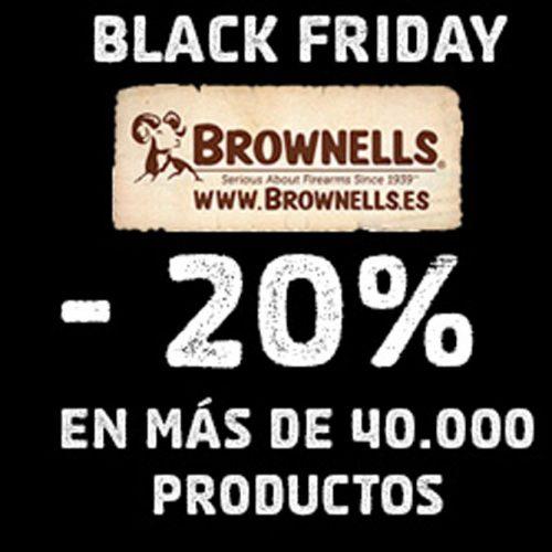 Black Friday en Brownells más de 40.000 productos con el 20% dto.