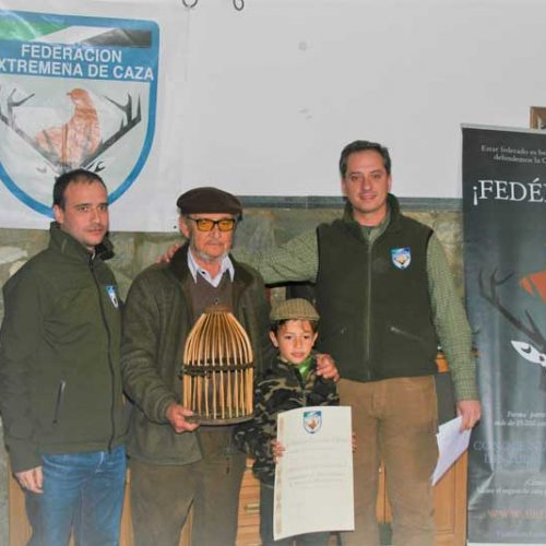 Manuel Parejo, campeón de Extremadura de perdiz con reclamo 2017