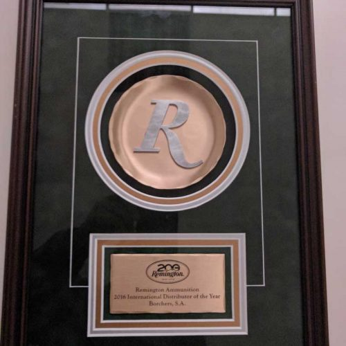Borchers reconocido como Distribuidor Internacional del año por Remington
