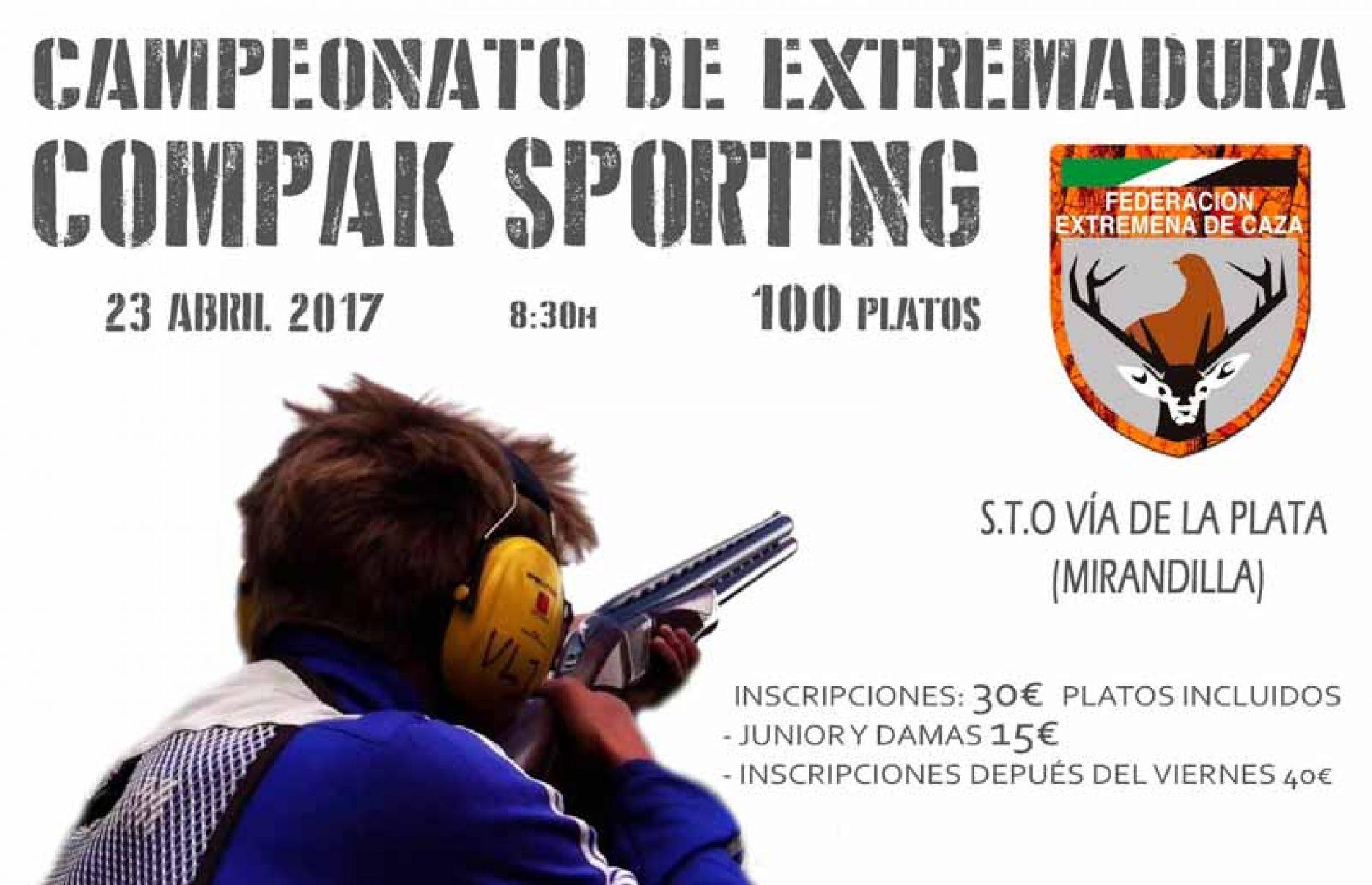 Mirandilla acoge el domingo 23 el Campeonato de Extremadura de Compak Sporting