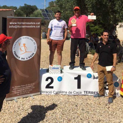 Ángel Ballesté ganador del campeonato de Catalunya de Recorridos de caza