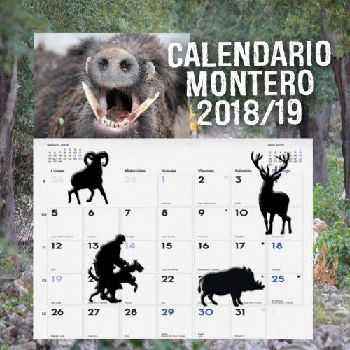 Calendario montero temporada 2018/2019