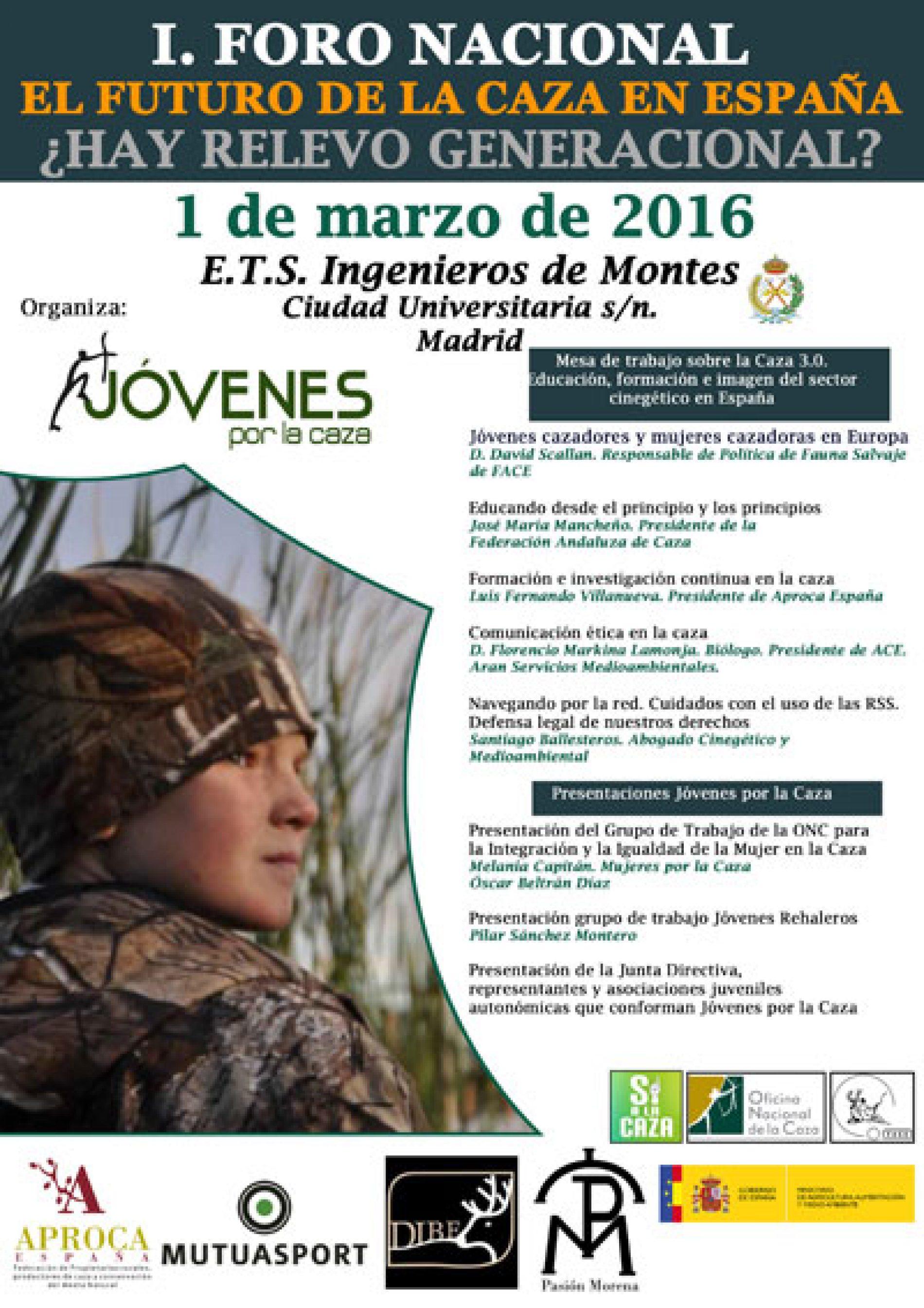 I Foro Nacional: El futuro de la caza en España ¿Hay relevo generacional?