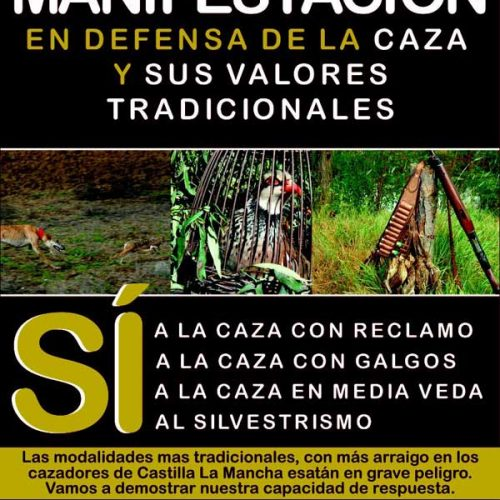 Manifestación en apoyo a la caza, 9 de mayo en Toledo