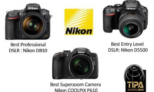 Nikon obtiene excelentes resultados en los premios TIPA 2015