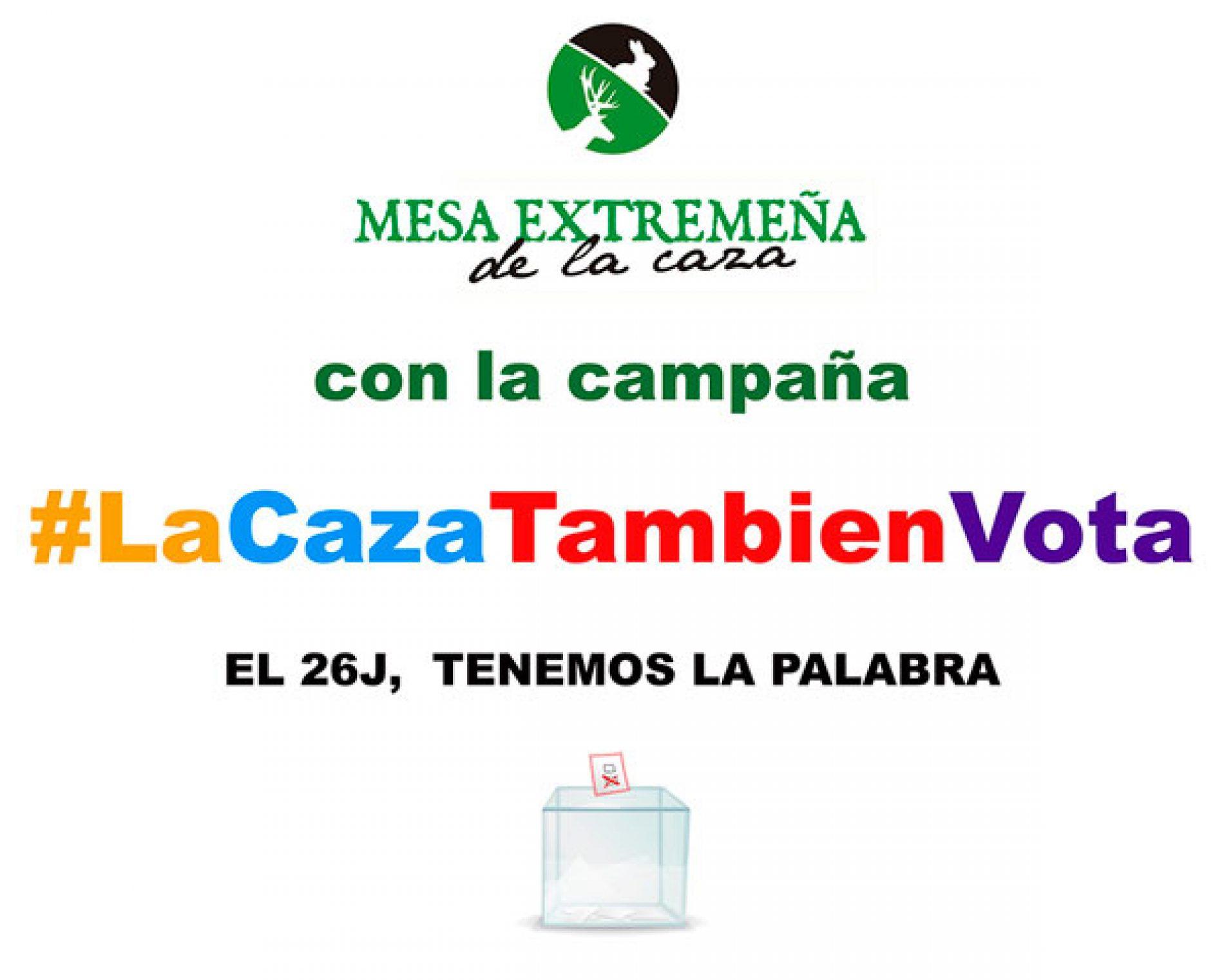 La Mesa Extremeña de la caza se suma a la campaña #LaCazaTambienVota