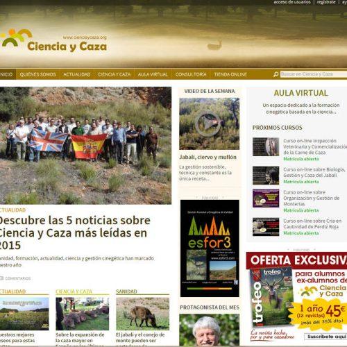Trofeo Caza y la web cienciaycaza.org juntos por la caza sostenible