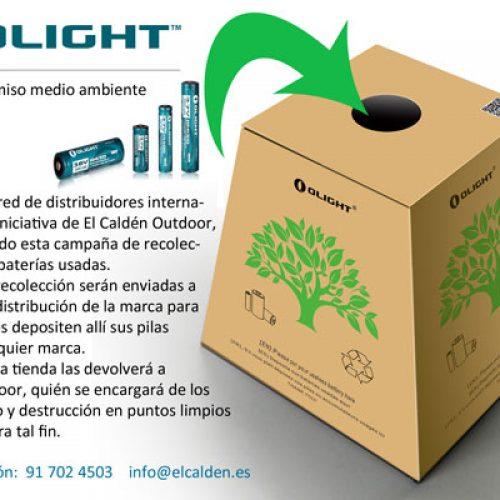 La firma Olight ha lanzado una campaña de recogida de pilas usadas