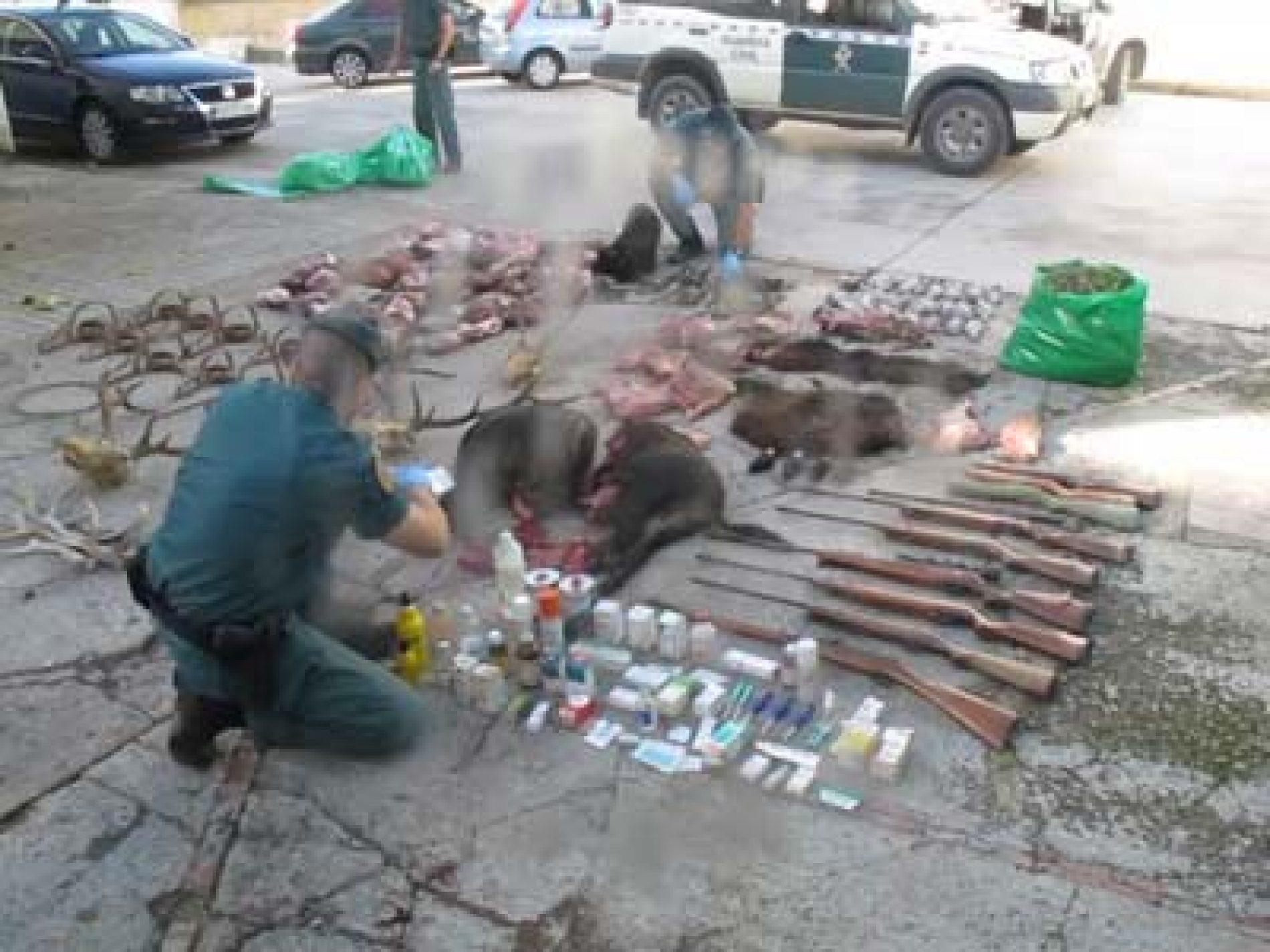 La Guardia Civil detiene a cuatro cazadores furtivos