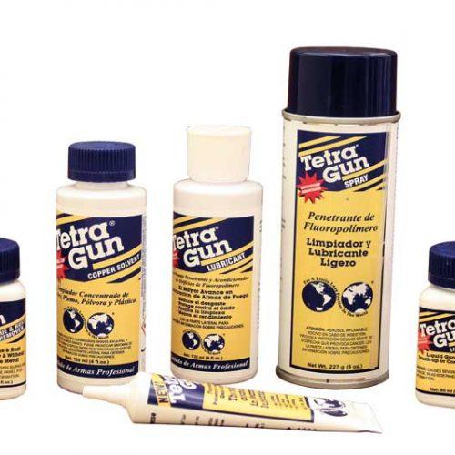 Productos Tetra Gun Para la limpieza y cuidado de las armas
