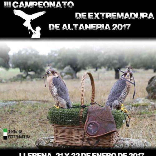 III Campeonato de altanería de Extremadura en Llenera