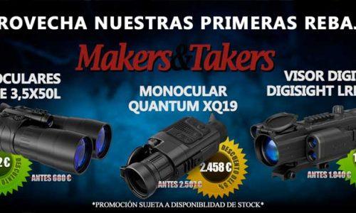 Makers & Takers inaugura las rebajas en visión térmica y nocturna