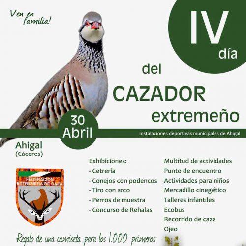 IV Día del Cazador Extremeño el 30 de abril en Ahigal