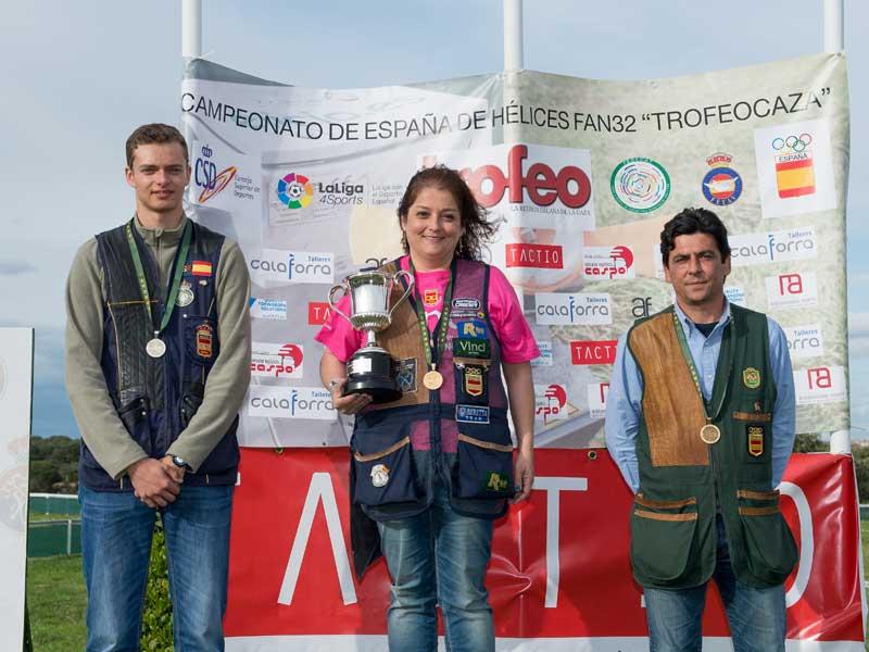 Los tres ganadores absolutos