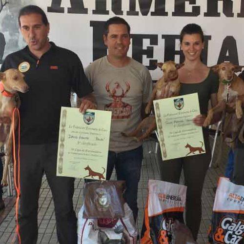 Sonia Márquez y 'Carrasca' ganan la VI Copa de Extremadura de trabajo para podenco andaluz