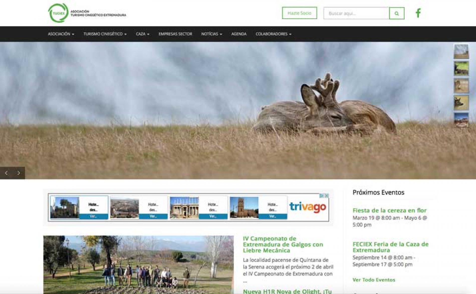 Nueva web de la asociación de turismo cinegético de Extremadura, Tuciex