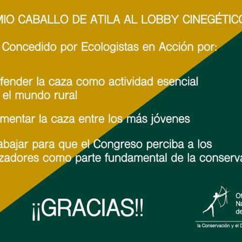 Ecologistas en acción premia a la ONC por su trabajo en defensa de la caza