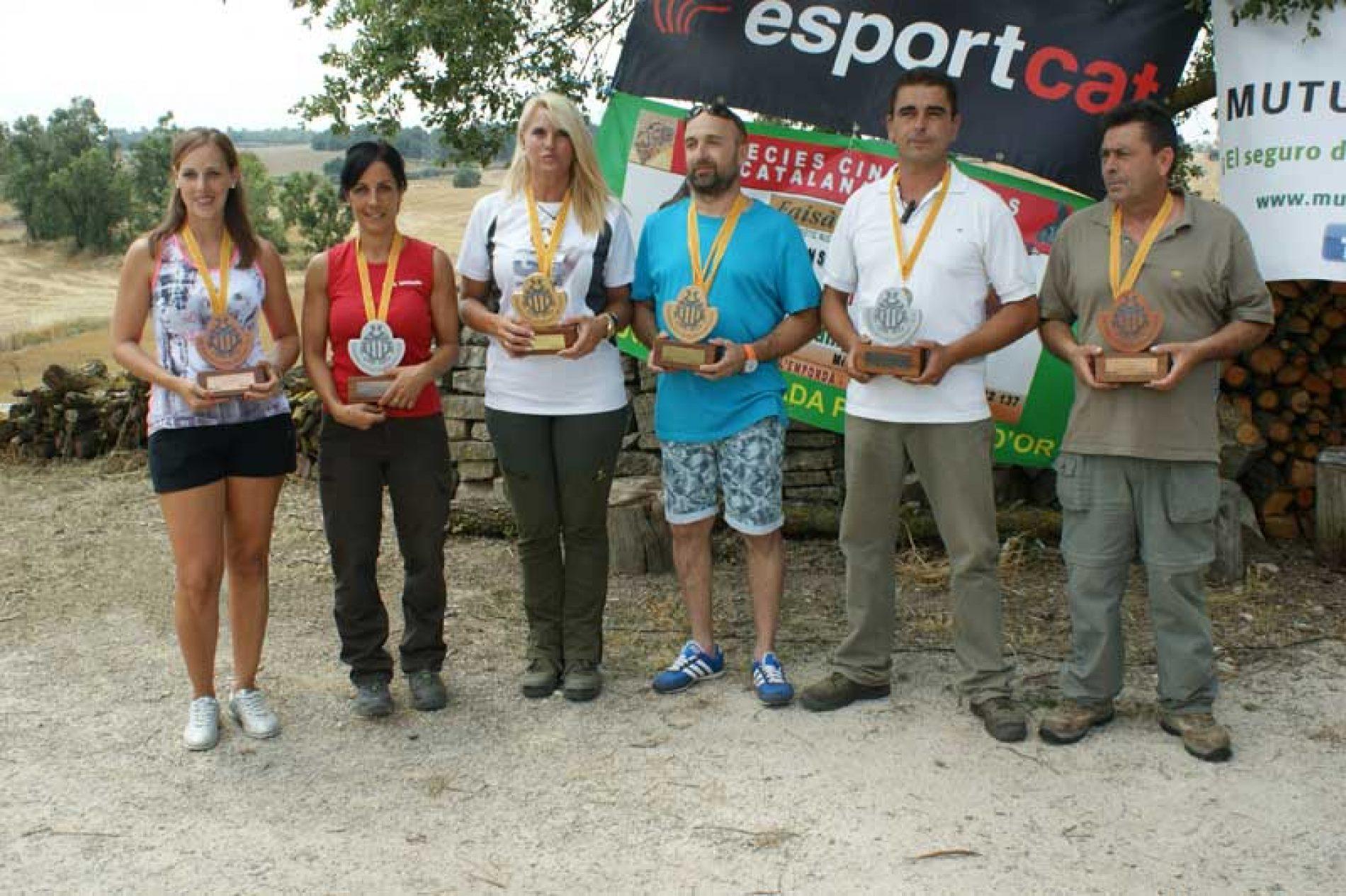 Francisco Javier Caballero y Eva Rius campeones del XV Campeonato de Cataluña de San Huberto