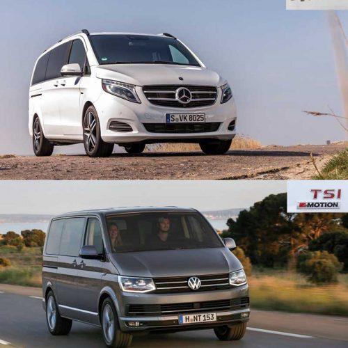 Mercedes Clase V y Volkswagen Multivan. Los Business Class de la caza