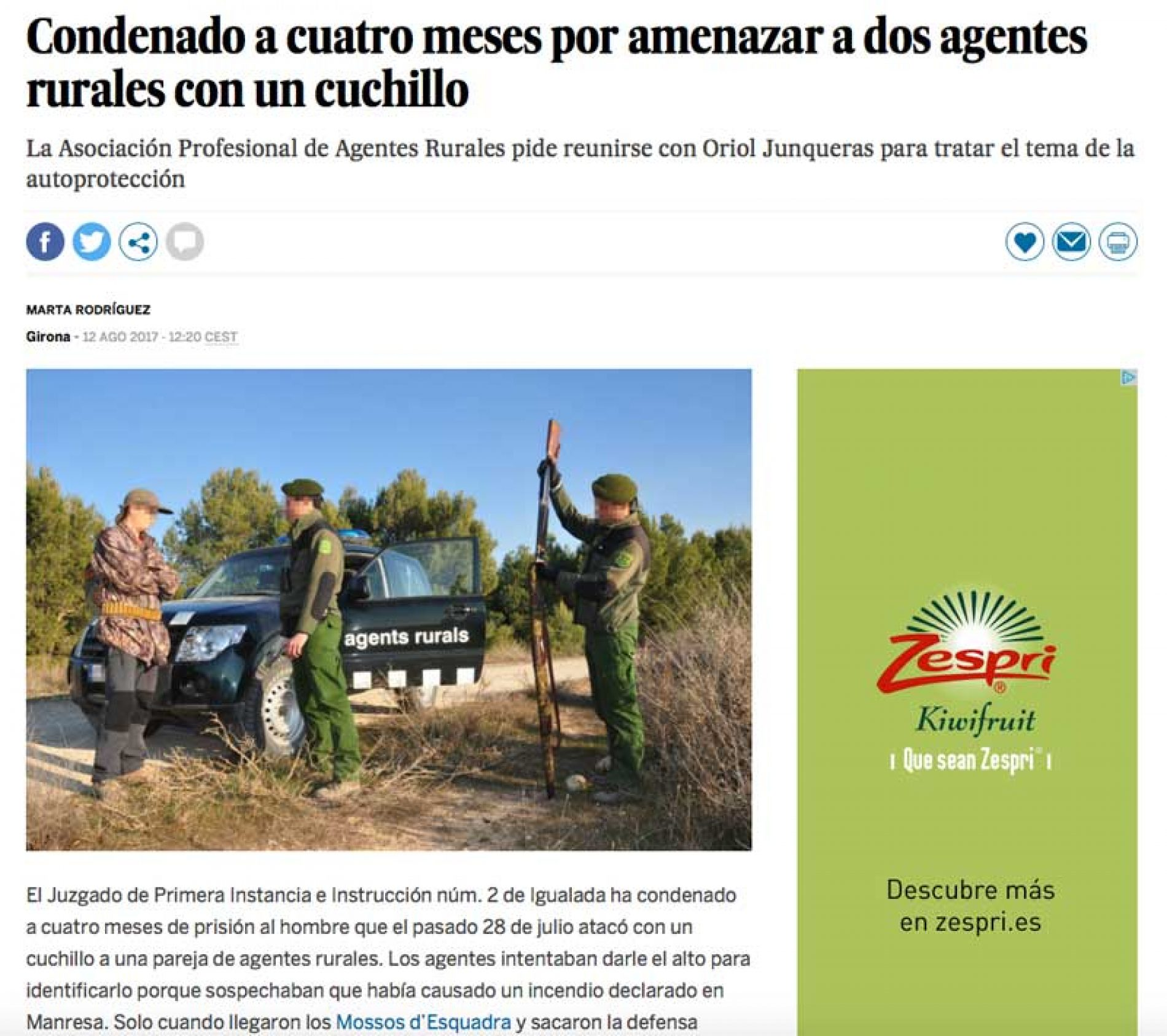 La ONC pide una rectificación al diario EL PAÍS