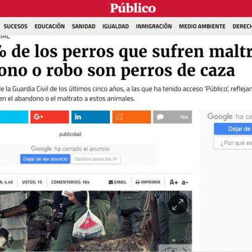 La RFEC exige a Publico.es que deje de acusar a los cazadores de maltratar y abandonar perros