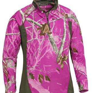 Camiseta M/L Pinewood Coolmax Sra. (Hot Pink/Green)