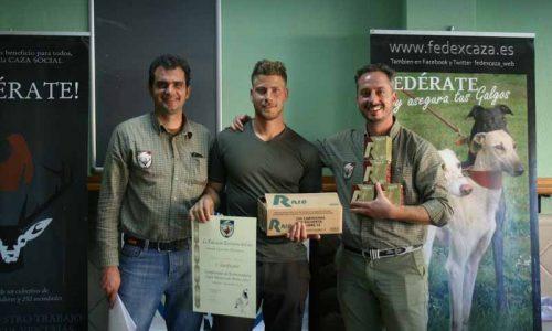 Jesús Lozano ganador del Campeonato de Extremadura de Caza Menor con Perro