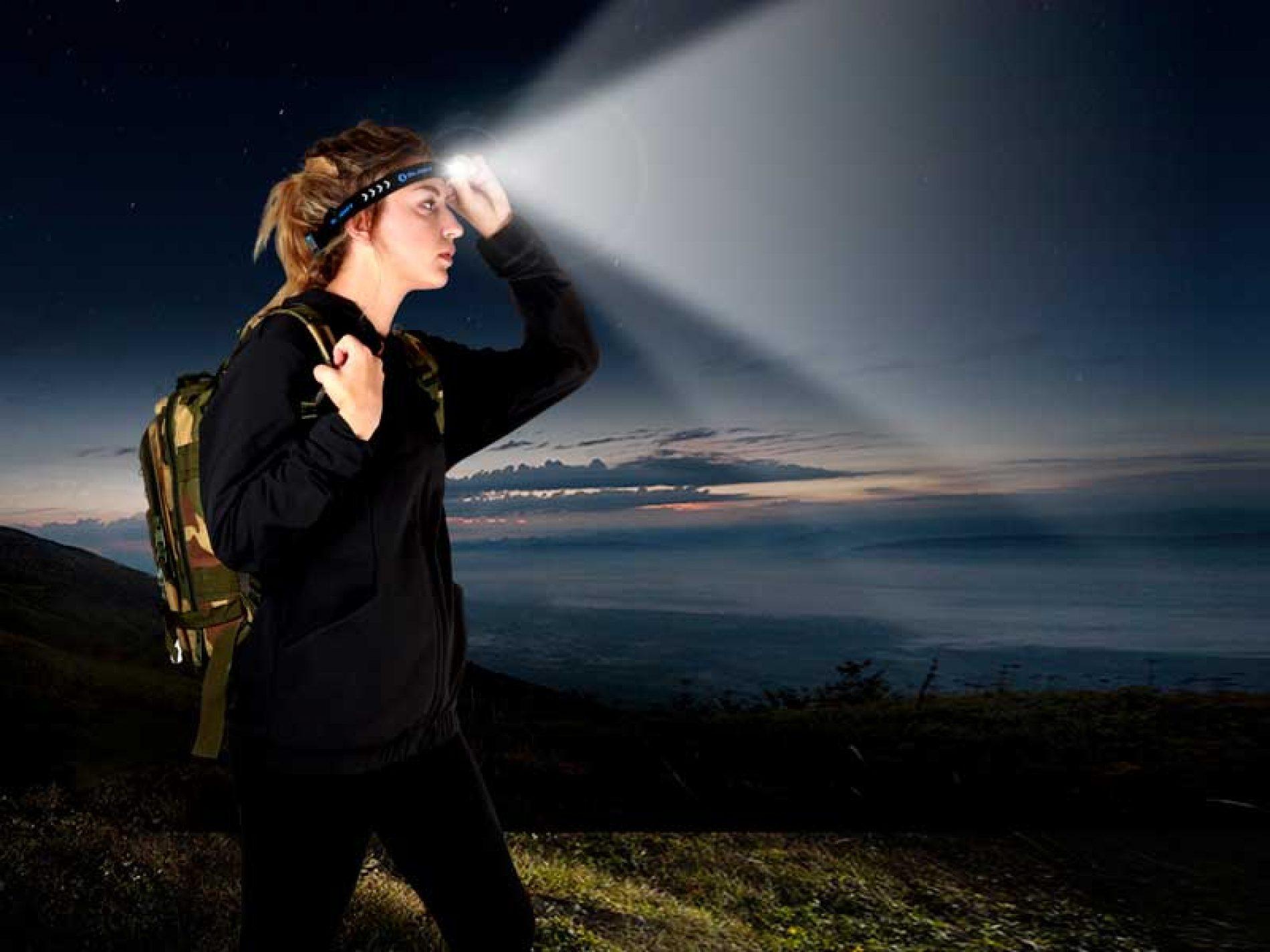 ¿Llevas una linterna frontal para salir de caza?