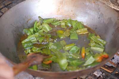 receta-migas-de-pastor-frie-pimientos