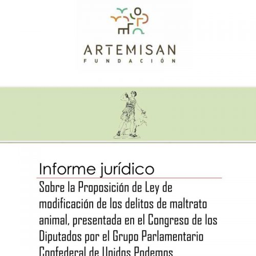 Artemisan trasladará al Congreso un informe que alerta de la ambigüedad de la propuesta para modificar el Código Penal