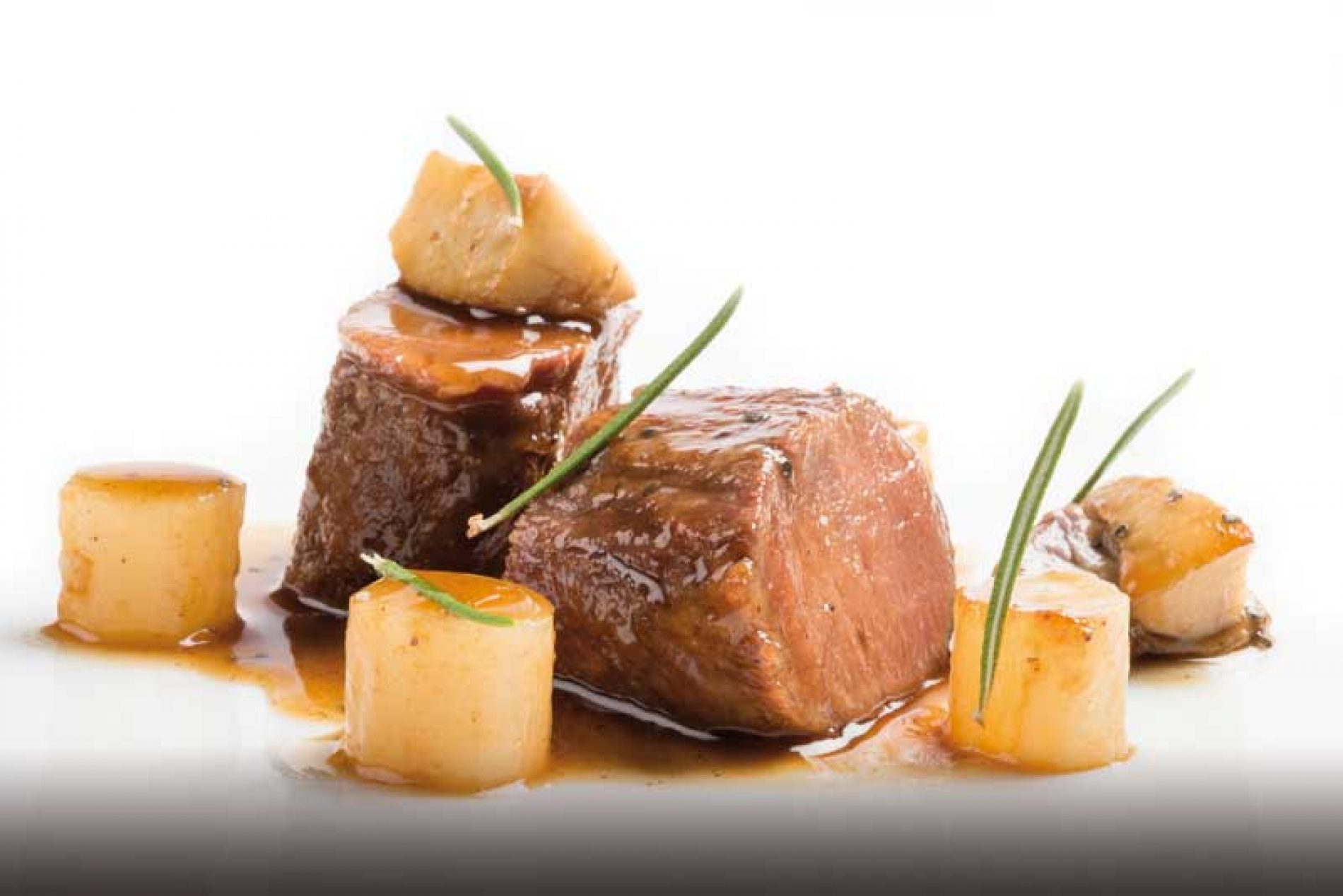 Receta de lomo de muflón, escorzonera y Boletus edulis