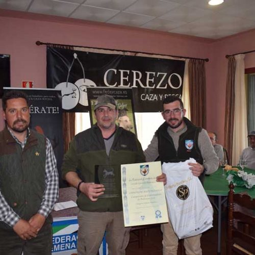 Juan Carlos Fernández ganador del Campeonato de Extremadura de Trabajo para Podenco Andaluz