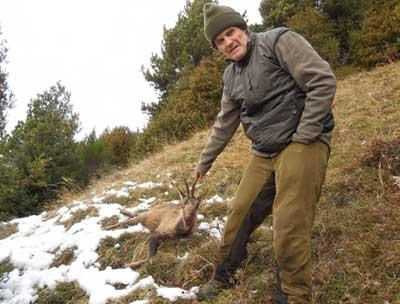 cazar-sarrio-del-bosque-saliendo-del-bosque
