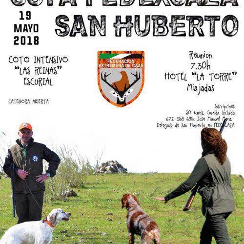 Copa FEDEXCAZA de San Huberto el 19 de mayo en Escurial