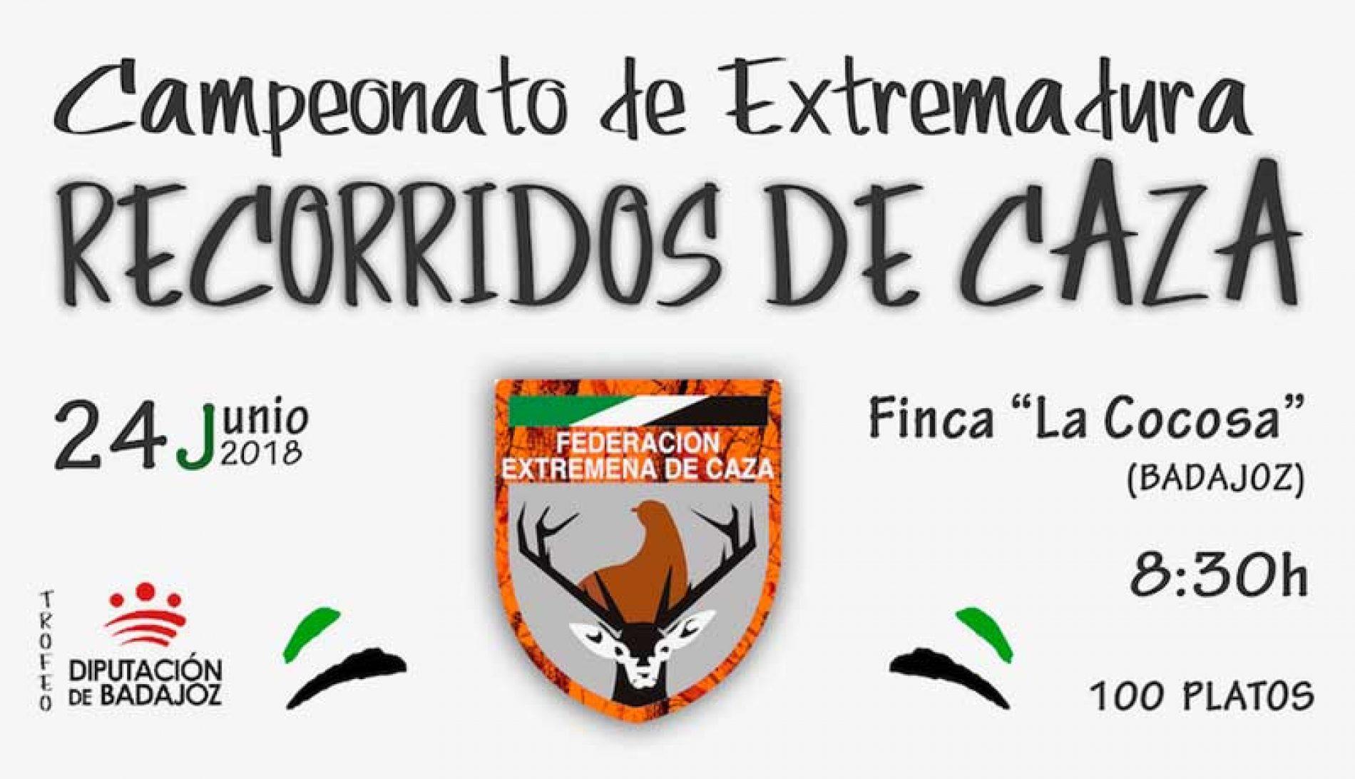 Campeonato de Extremadura de Recorridos de Caza, clasificatorio para el nacional
