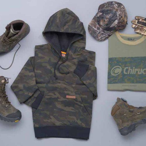 CHIRUCA incorpora a su catálogo de caza una linea con estampado de camuflaje