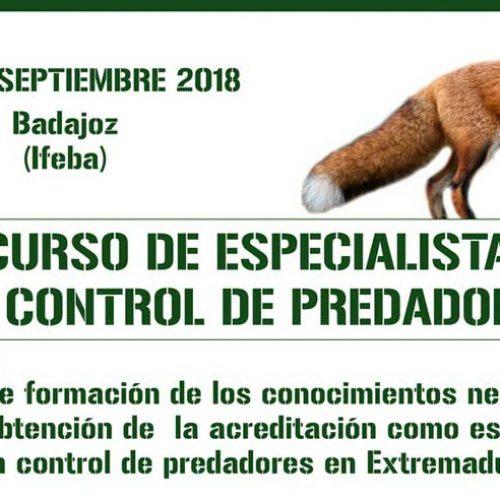 Badajoz acogerá un septiembre un curso de especialista en control de predadores