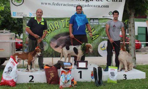 Emilio J. Fernández y 'Toñín' campeones de España de Perros de Rastro