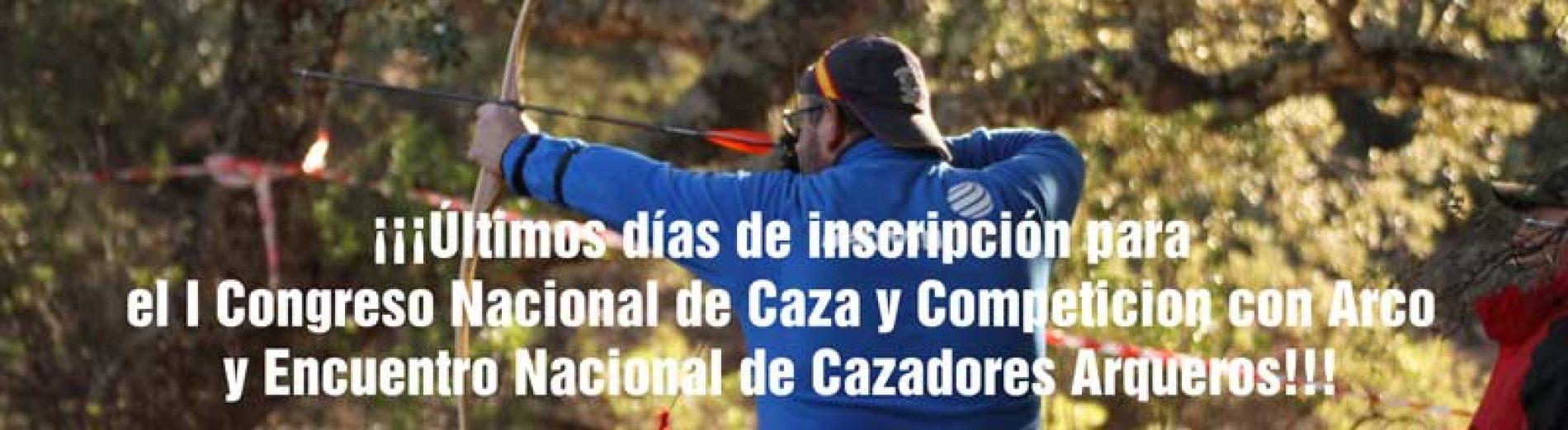¡Últimos días de inscripción para el I Encuentro Nacional de Cazadores Arqueros!