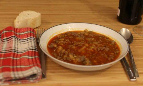 Receta de Sopa de Hígado de Corzo