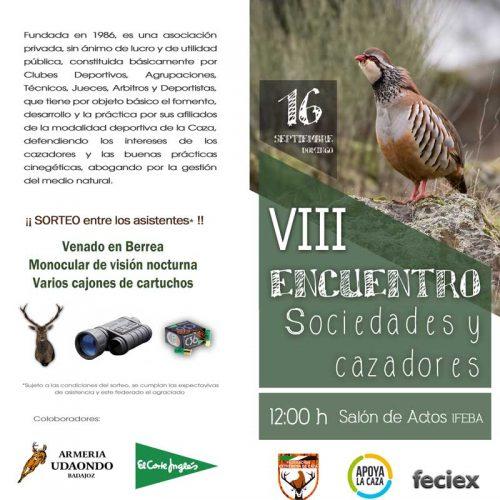 El 8 º Encuentro de Sociedades de FEDEXCAZA celebrará en FECIEX