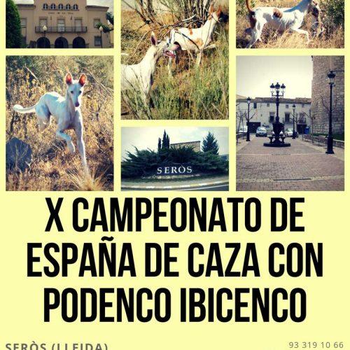 X Campeonato de España de Caza con Podenco Ibicenco