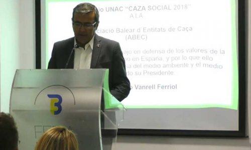 La Unión Nacional de Cazadores entrega sus premios 2018 en FECIEX