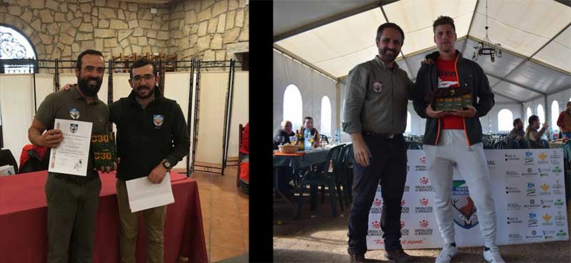 Jesús y Jorge ganadores de los Campeonatos Provinciales de Caza Menor con Perro
