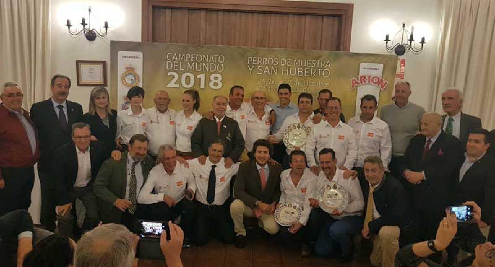 Gran papel del equipo español en el Campeonato del Mundo de San Huberto
