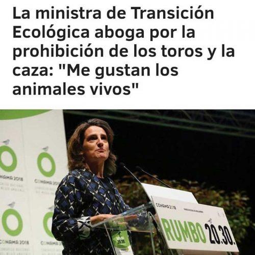 La ministra de Transición Ecológica pide la prohibición de la caza