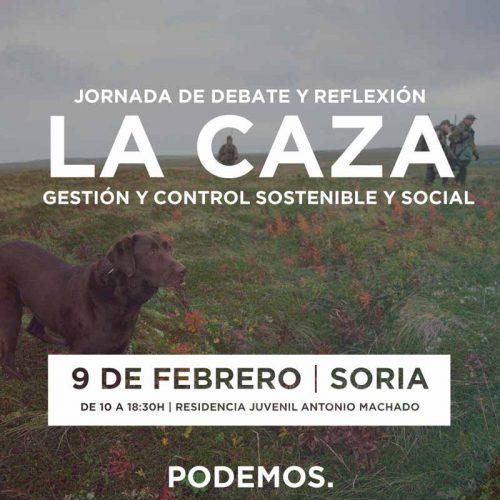 Podemos aclarará su posición frente a la Caza el próximo día 9 de febrero en Soria