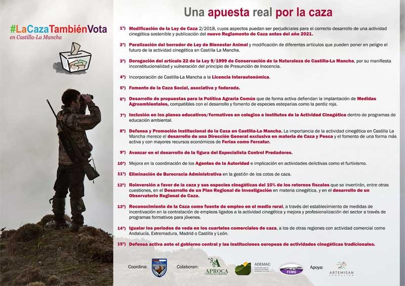 la-caza-vota-en-Castilla-La-Mancha-puntos